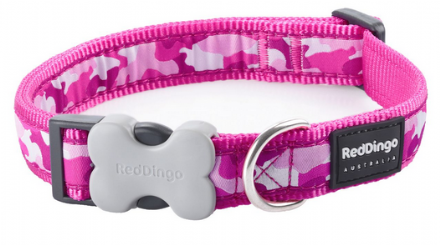 Pink Camouflage Dog Collar